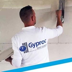 Installation de Gyproc : cloisons & plafonds