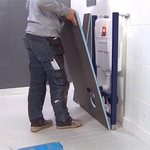 Conversion Wedi des toilettes avec Wedi I-Board