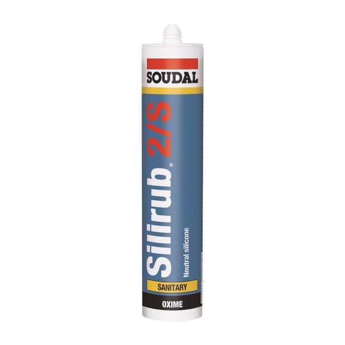 Soudal Silirub 2S siliconenkit wit 310ml 101989