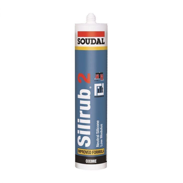 Soudal Silirub 2 siliconenkit grijs 310ml 102422