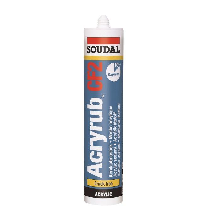 Soudal Acryrub CF2 Acrylaatkit Wit 310ml 121616