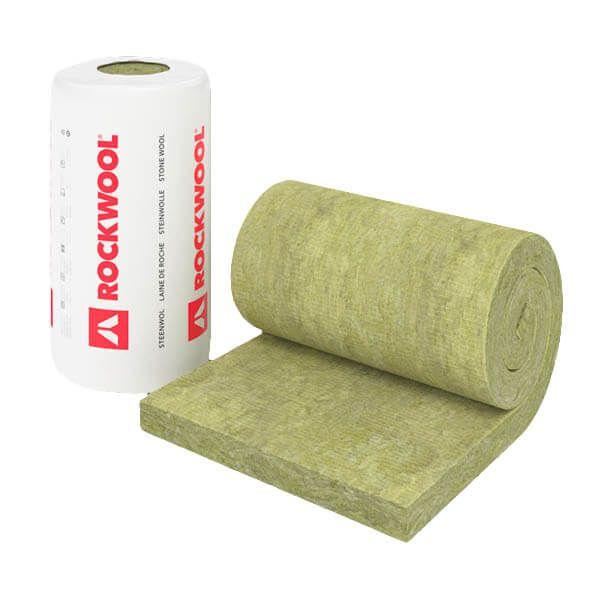 Rouleau de laine de roche Rockwool RockRoof Flexi 214 de 6 m x 1 m x 80 mm