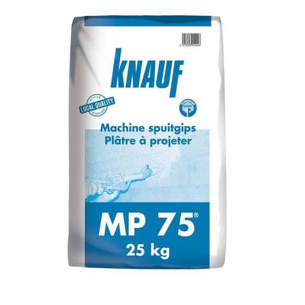 Enduit au plâtre Knauf MP 75 en sacs de 25 kg