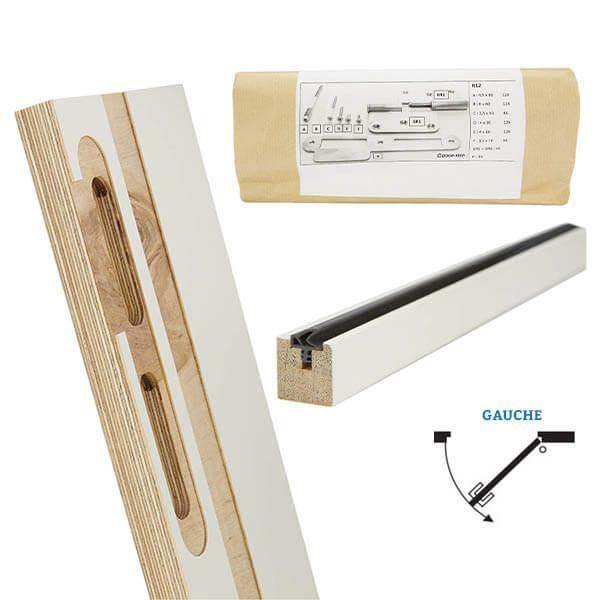 Door-Tech Kit Finition RF0 2115x102mm Gauche Ébrasement/Listel/Set Fixation