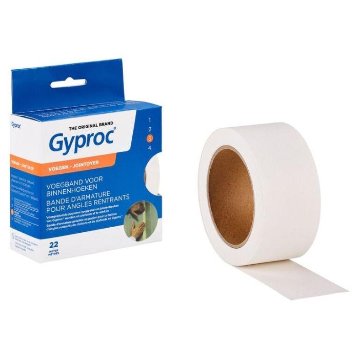 Gyproc Voegband Binnenhoek Wit 22m G111229