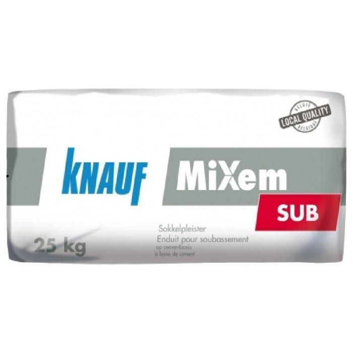 Knauf MiXem Sub Cementpleister Binnen/Buiten 25kg 494980