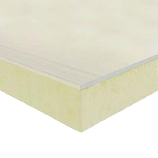 Gypsotherm Plaque de plâtre avec isolation de 2,6 m x 1,2 m x 12,5 mm + 60mm