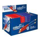 Crayon Color Line Duo Rouge/Bleu 175 mm