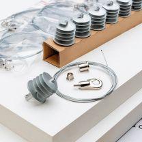Kit Ecophon Solo Square 1,2 m x 1,2 m x 40 mm | 2 panneaux + accessoires