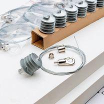 Kit Ecophon Solo Rectangle 2,4 m x 1,2 m x 40 mm | 2 panneaux + accessoires