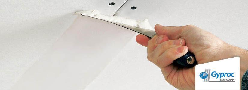 Jointoyer et parachever un plafond avec Gyproc