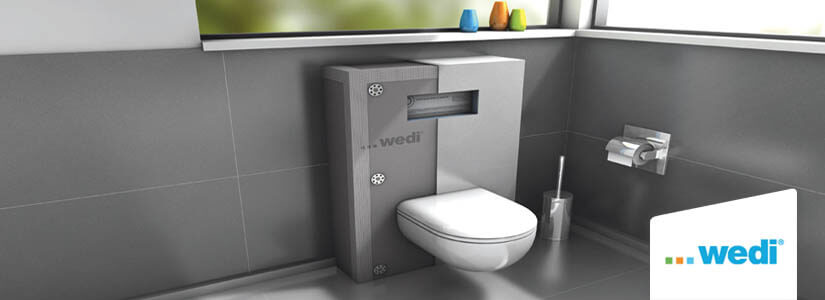 WC Suspendu : l'installation et parachevement avec Wedi I-Board